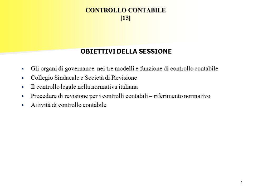 CONTROLLO CONTABILE [15]
